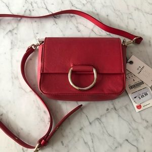 NWT - Zara Real Leather Red Purse